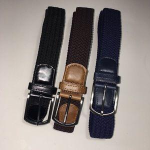 Amazon Men's Stretch Woven Elastic Braided Belts